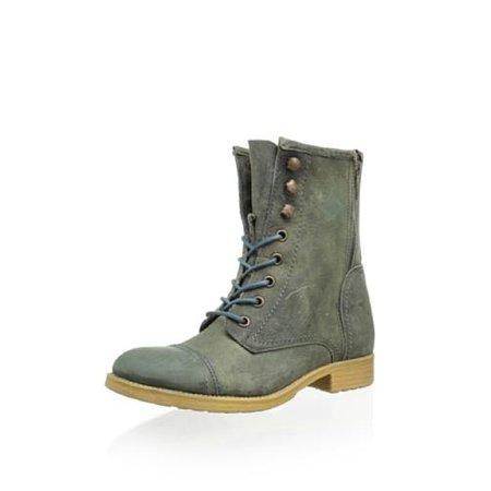 Bed Stu Affair Women's Lace Up Vintage Combat Boots - Many