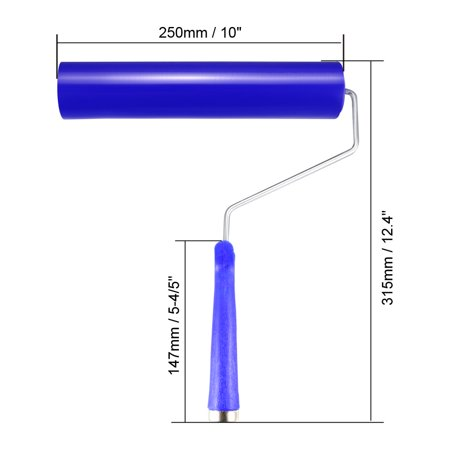 10-Inch Sticky Roller Dust Removal Hair Lint Cleaner w Aluminum Handle J-Roller - image 1 of 3