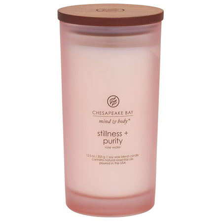 Chesapeake Bay Candle Scented Candle, Stillness + Purity (Rose Water), Large