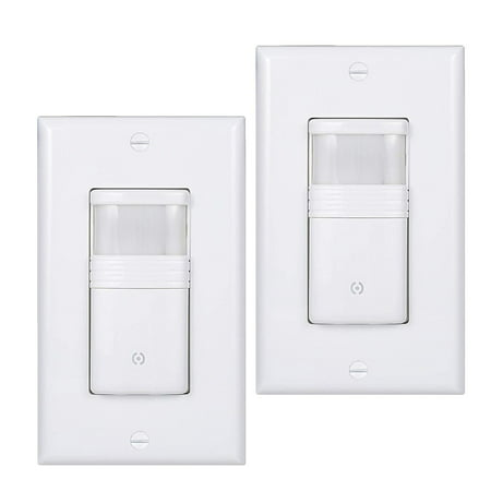White Motion Sensor Light Switch Neutral Wire Required Vacancy & Occupancy