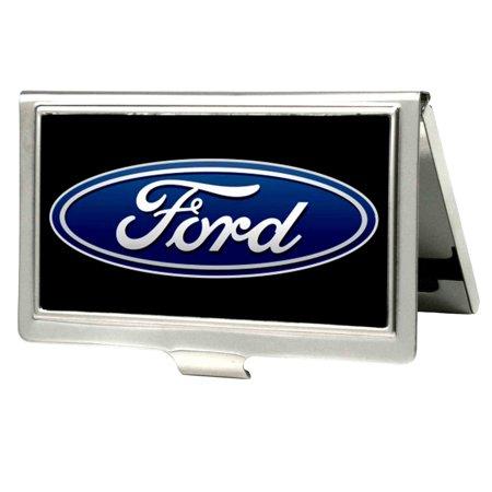 Ford Automobile Company Classic Blue Emblem Business Card Holder