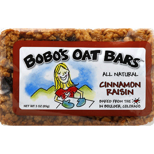 Bobo's Oat Bars Cinnamon Raisin Bar, 3 oz, (Pack of 12)