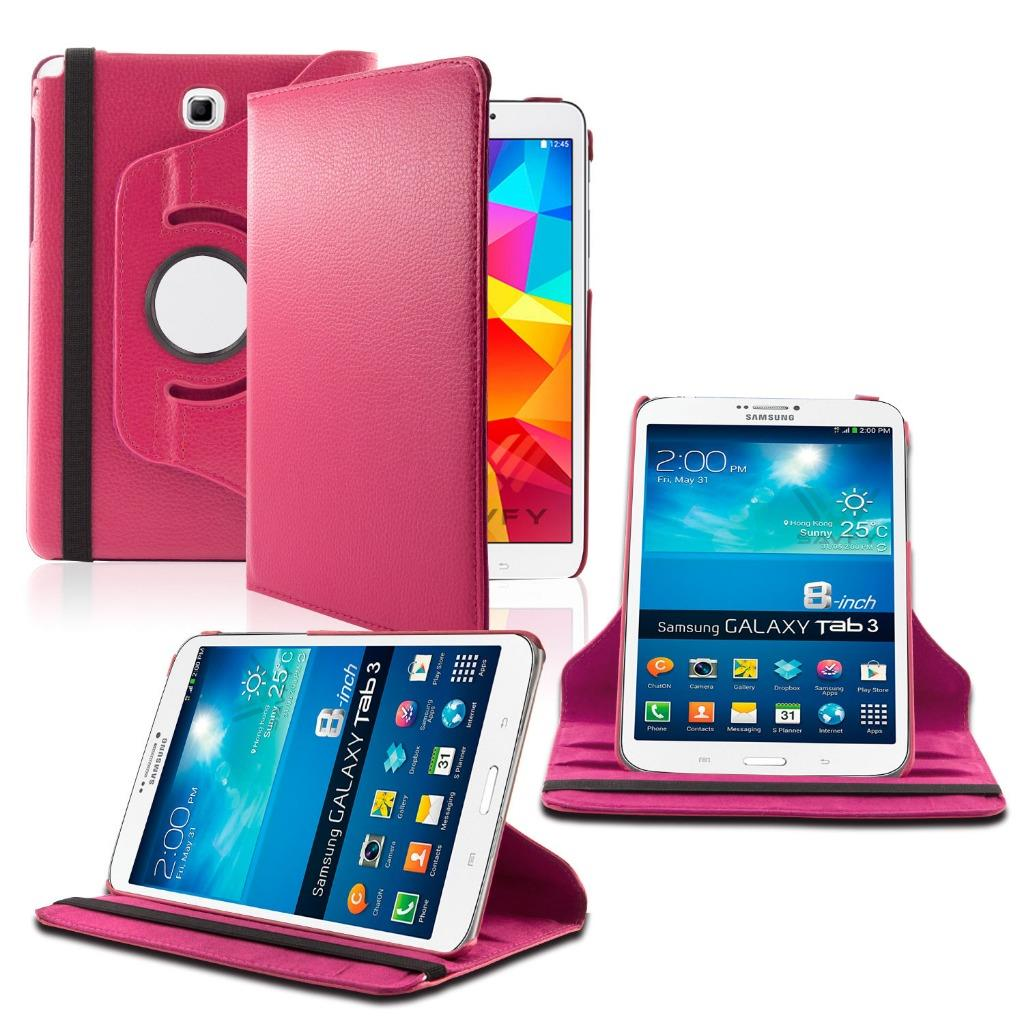Samsung Galaxy Tab A 9.7 360 Rotating Leather Cover Pink