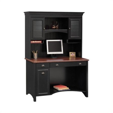 Bush Stanford Wood Computer Desk With Hutch in (Wood Bushings)