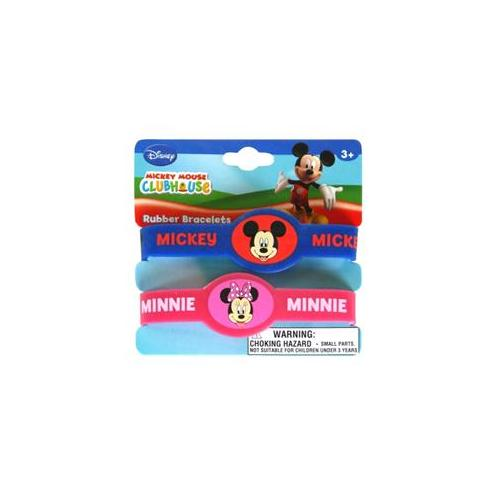 UPD INC 208501 Disney Mickey and Minnie Rubber Bracelets