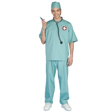 Surgical Scrubs Adult Halloween Costume, One Size