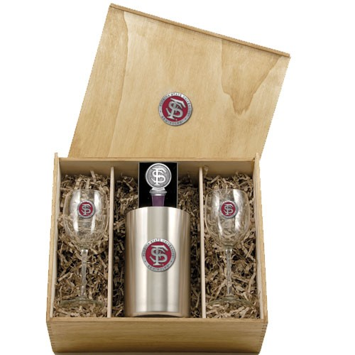 Florida State Seminoles Wine Set
