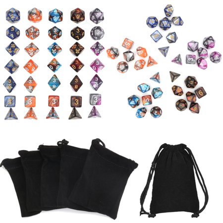 35pcs Polyhedral Dice Set for Dungeons & Dragons D20 D12 D10 D8 D6 D4 Games+5Pcs (Polyhedra Dice Set Set)