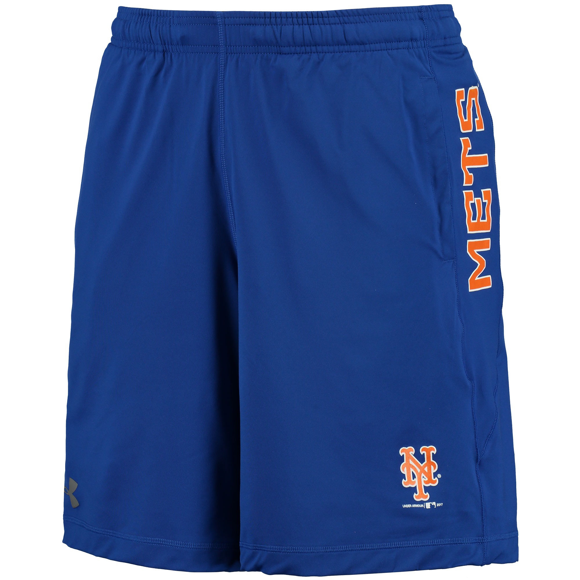 New York Mets Under Armour Raid Solid Shorts - Royal