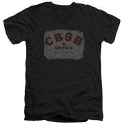 CBGB Crumbled Logo Mens V-Neck Shirt