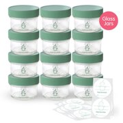 Sage Spoonfuls Glass Baby Food Storage Containers, 4 oz, 12 pack