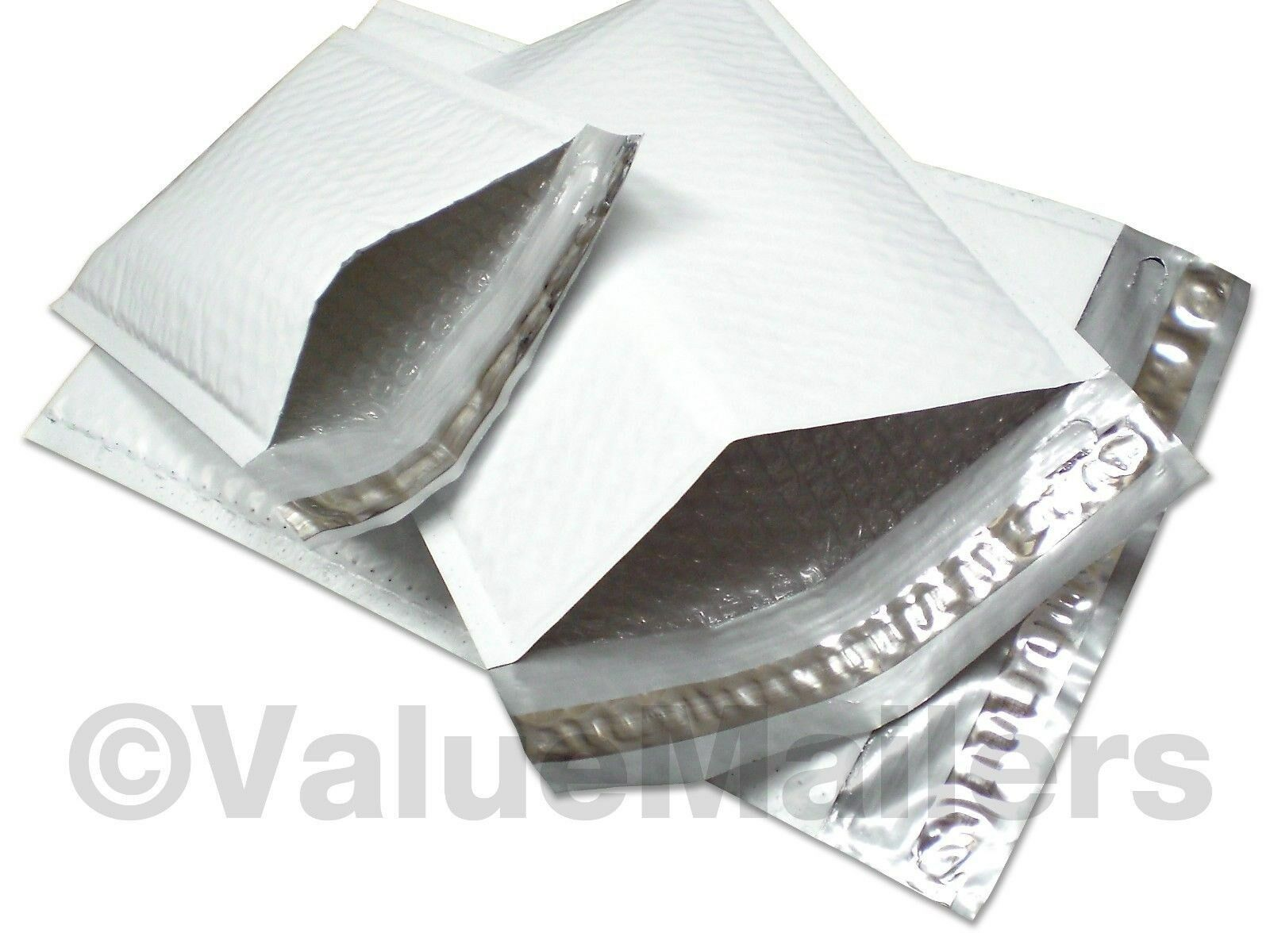 400 #1 Black Poly Bubble Padded Envelopes Self-Sealing Shipping Mailers 7.25x12
