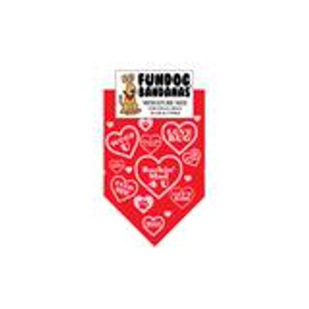 Mad Dog Atv - Barkin' Mad for You Dog Bandana (Suitable for Valentine's Day) (Miniature Size for Small Dogs, Red)