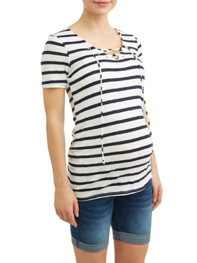 Product Image Maternity Lace Up Side Ruched Top 8e263d27d