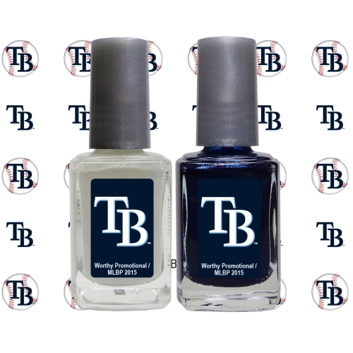 Tampa Bay Rays 2-Pack Nail Polish with Nail Decal - No Size