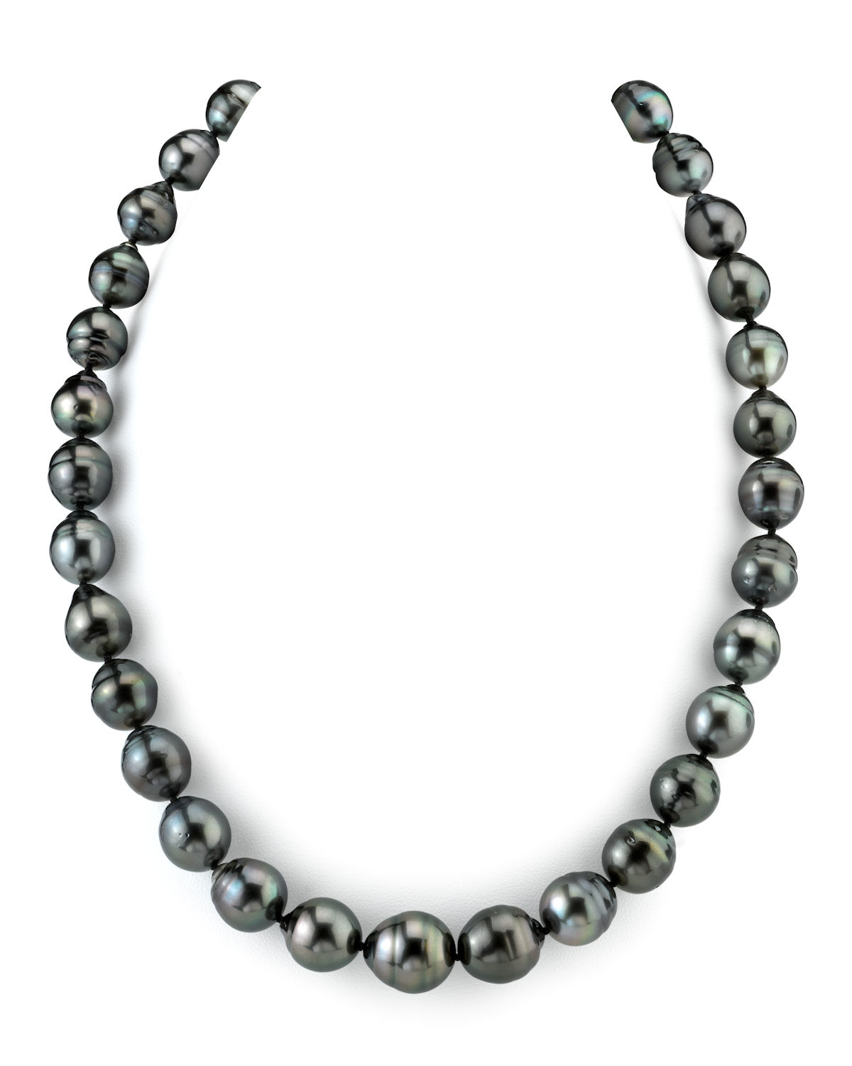 """14K Gold 11-12mm Tahitian South Sea Baroque Cultured Pearl Necklace AAA Quality, 18"""" Length by The Pearl Source"""