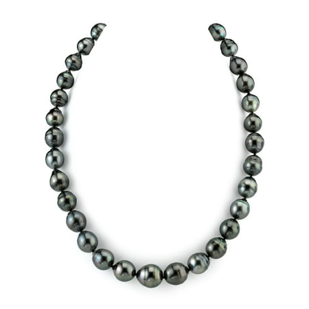 14K Gold 11-12mm Tahitian South Sea Baroque Cultured Pearl Necklace - AAA Quality, 18