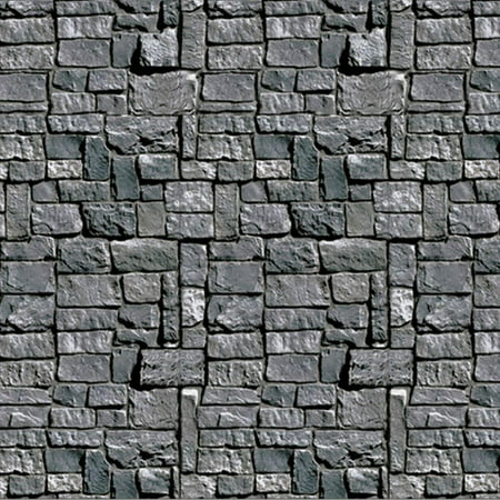 Stone Wall Backdrop Halloween - Window Halloween Decorations