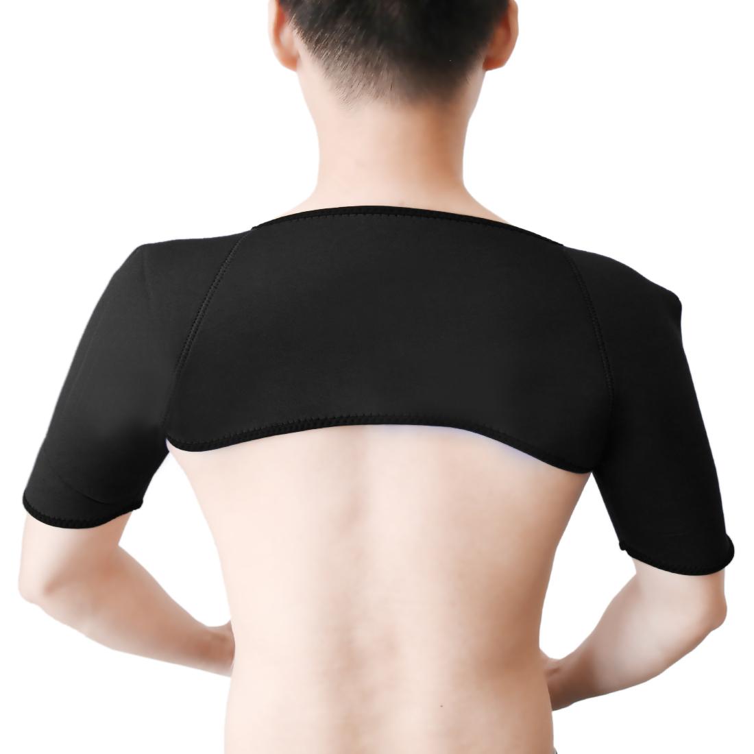 Neoprene Elastic Sports Protect Double Shoulder Brace Support