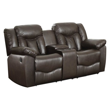 NH Designs Bonded Leather Motion Loveseat and