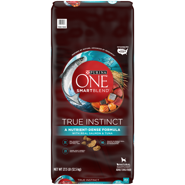 Purina ONE High Protein Natural Dry Dog Food, SmartBlend True Instinct With Real Salmon & Tuna, 27.5 lb. Bag