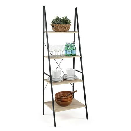 Good Jupiter 4 Tier Storage Ladder - Black/Grey ()