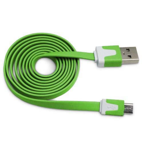 Importer520 Green 3m 10 Ft (Extra Long) Micro USB Data Sync Charger Cable forLG Optimus F7 US780