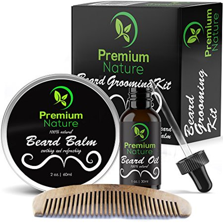 beard grooming kit gift for him for mustache beard growth soften soothe moisturize skin. Black Bedroom Furniture Sets. Home Design Ideas