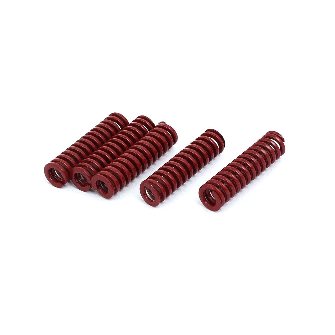 Unique Bargains 8mm OD 30mm Length Medium Load Compression Mould Die Spring Red 5pcs - image 3 of 3