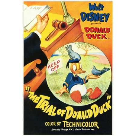 48 Donald Duck - The Trial of Donald Duck - movie POSTER (Style A) (27