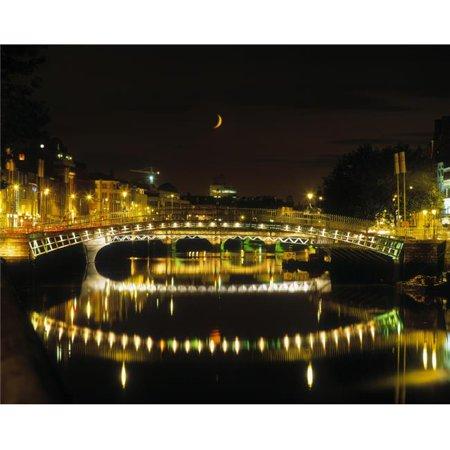 HaPenny Bridge River Liffey Dublin Ireland Poster Print by The Irish Image Collection, 16 x 12 - image 1 of 1