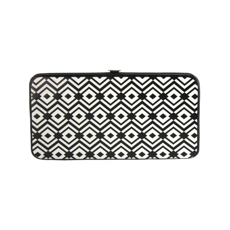 Size one size Women's Aztec Print Hinged Card Case Wallet, Black