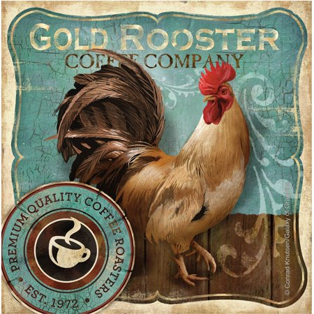 Thirstystone Occasions Drink Coasters, Gold Rooster ()