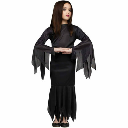 Morticia Child Halloween Costume - Morticia E Gomez Halloween