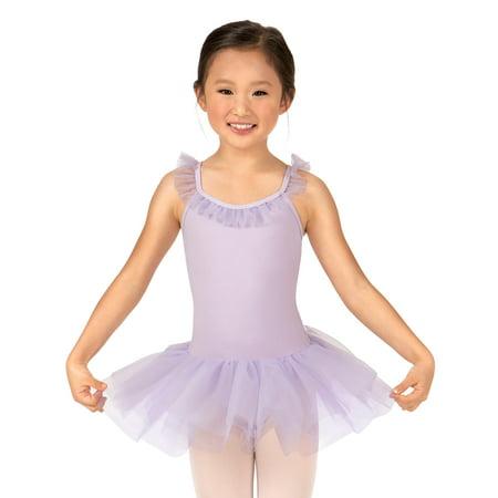Camisole Tutu Dress (Girls Ruffle Neck Camisole Tutu Ballet Dress )