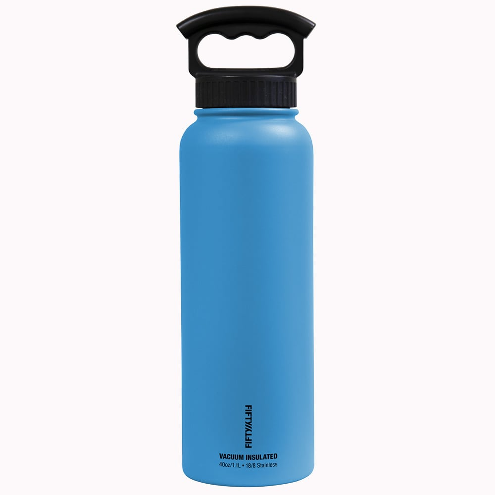 Stainless Steel FIFTY//FIFTY V40001SS0 Vacuum-Insulated Bottle 40-Ounce