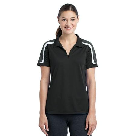 Sport-Tek® Ladies Tricolor Shoulder Micropique Sport-Wick® Polo. Lst658 - image 1 de 1
