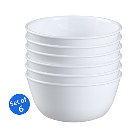 Corelle Livingware 1032595 28 Ounce Super Soup Cereal Bowl  Winter Frost White   Set Of 6
