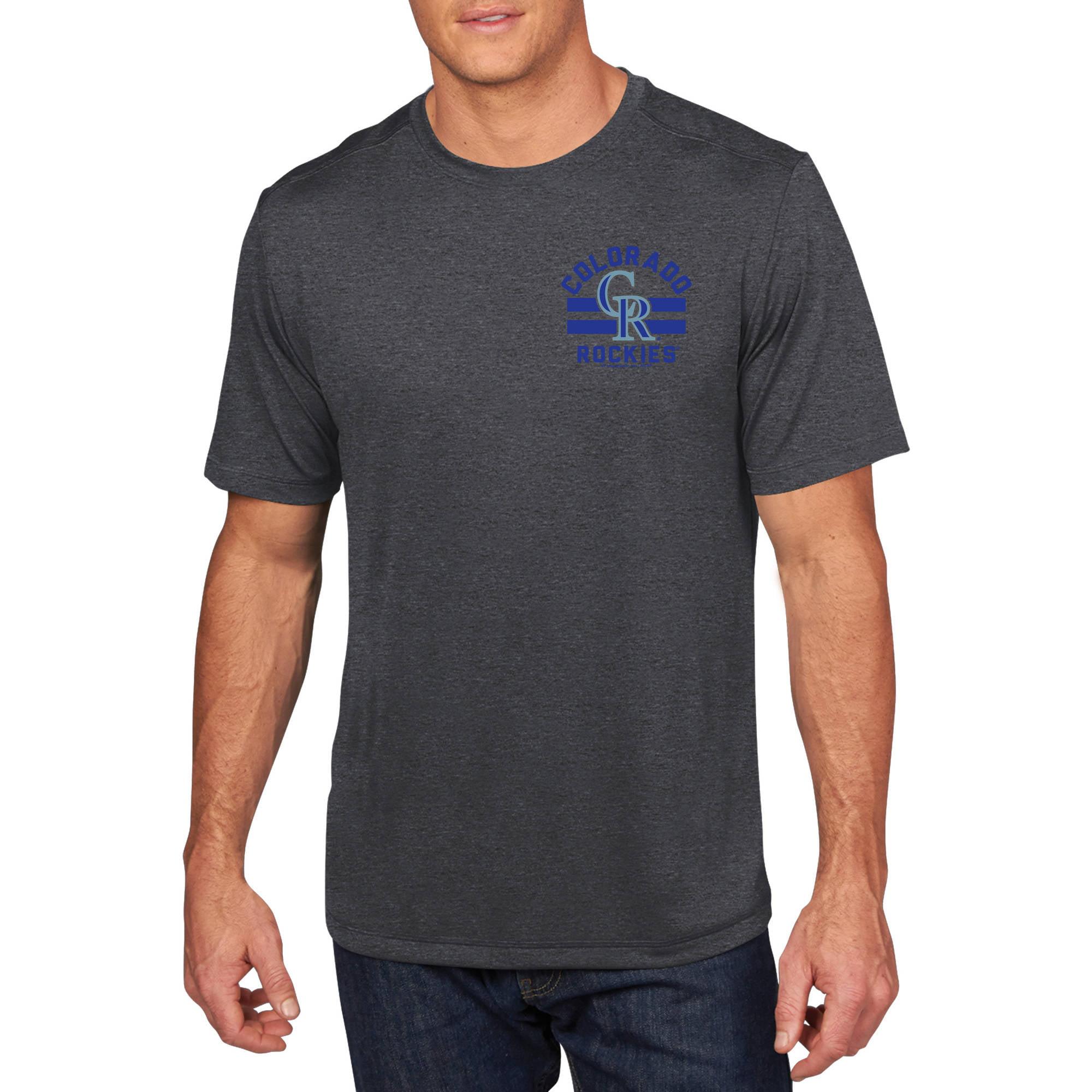 MLB - Mens Colorado Rockies Short Sleeve Synthetic Team Tee
