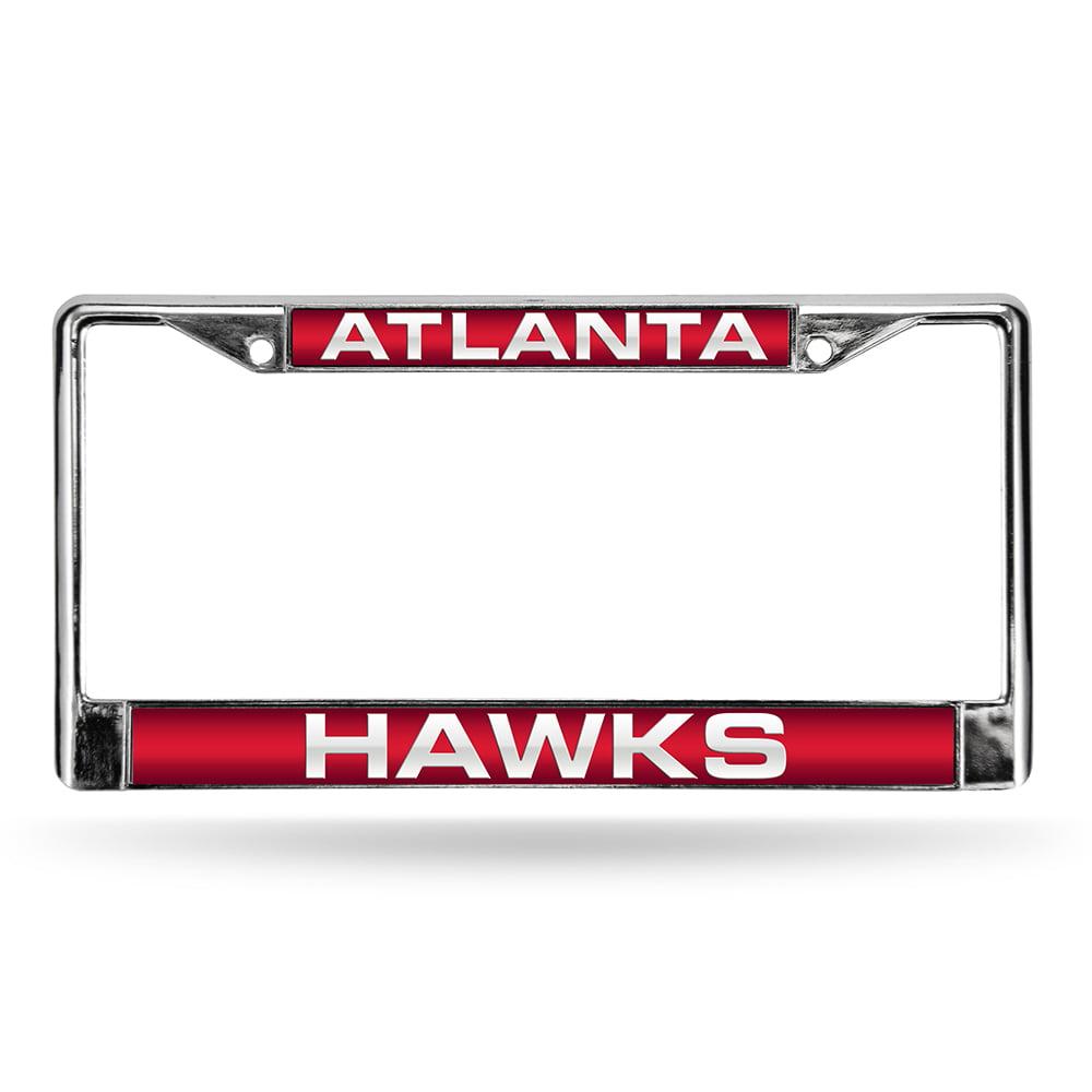 Atlanta Hawks NBA Chrome Laser Cut License Plate Frame
