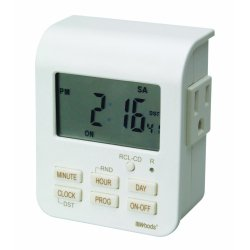 Woods 50009WD Indoor 7-Day Heavy Duty Digital Plug-In Timer, 2 Grounded Outlets ()