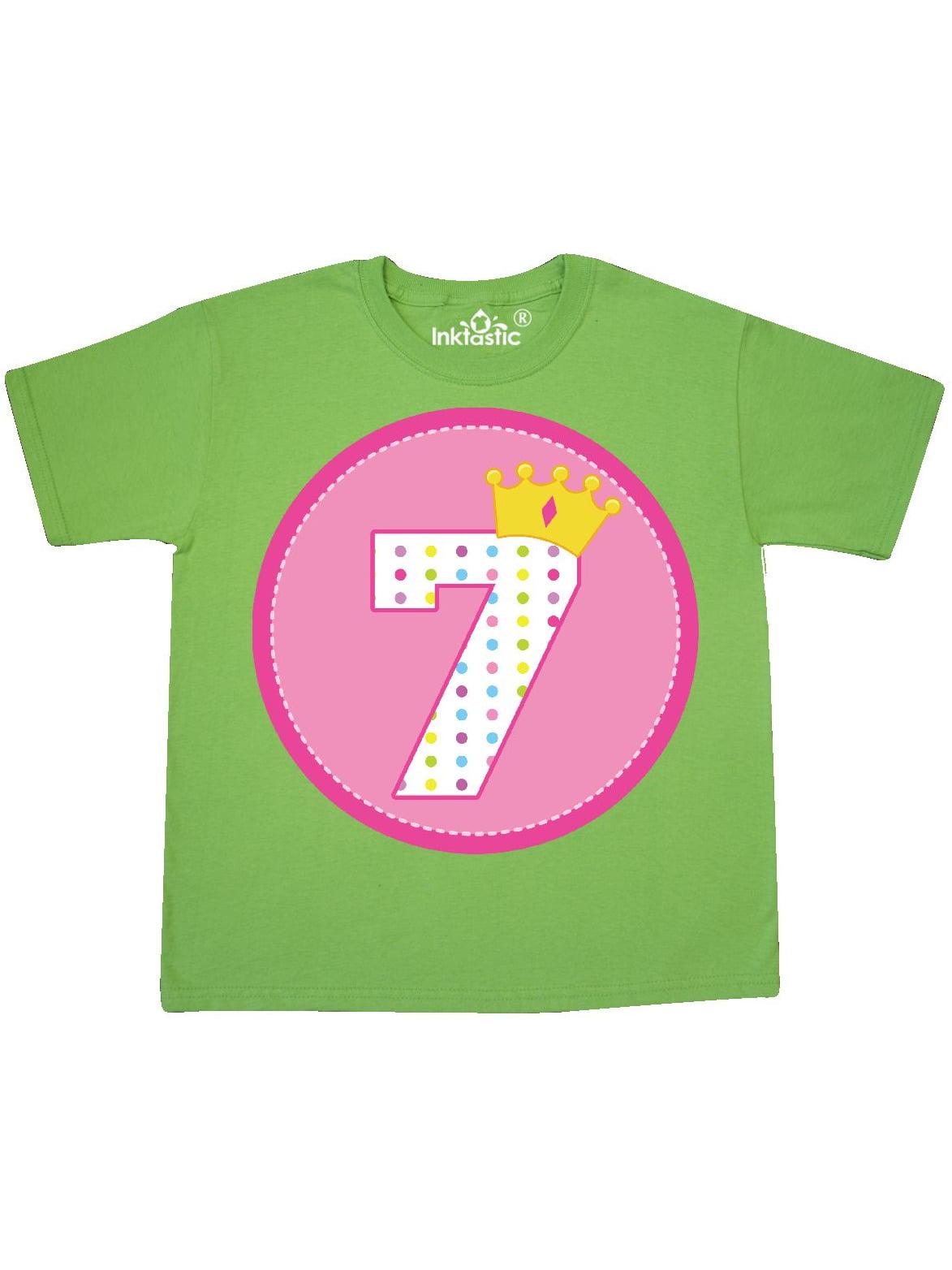 Princess 7th Birthday Youth T-Shirt