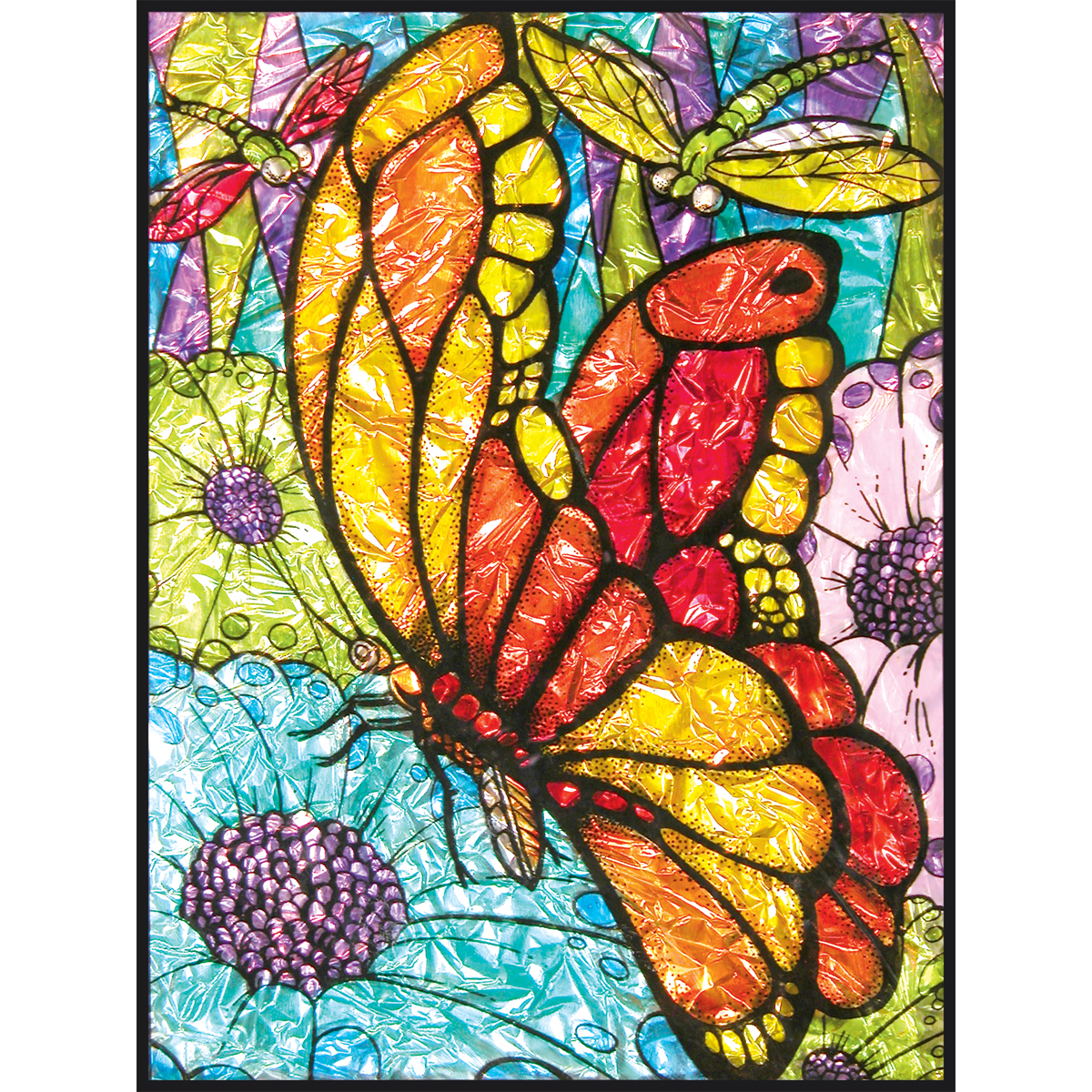 "Foil Paint By Number Kit 8""X10""-Butterflies"