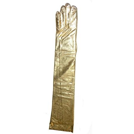 Lame' Shoulder Length Gloves 23 inch PA7284 - Gold