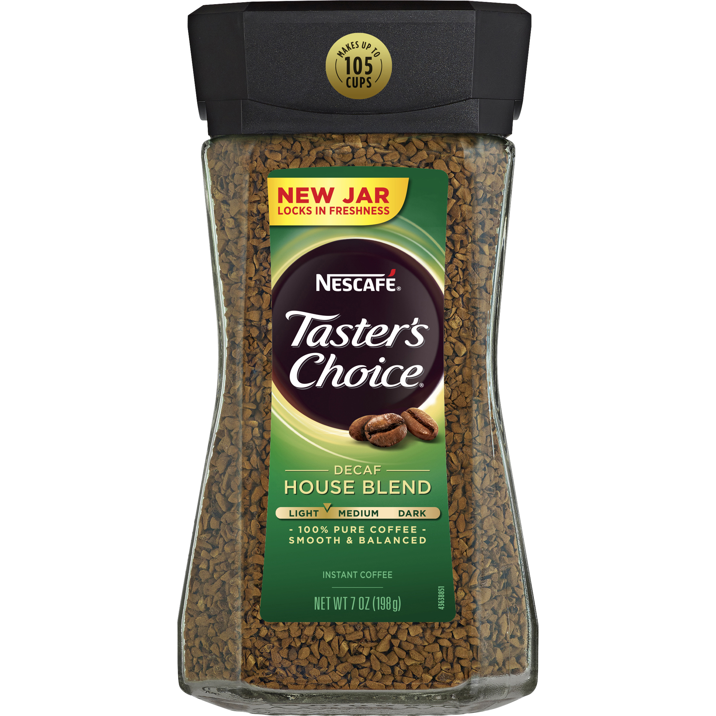 NESCAFE TASTER'S CHOICE Decaf House Blend Instant Coffee 7 oz. Jar