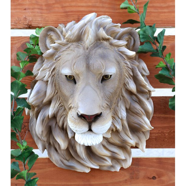 Mufasa Lion Head Wall Decor Plaque 16 Tall Taxidermy Art Alpha Pride Rock King Walmart Com Walmart Com