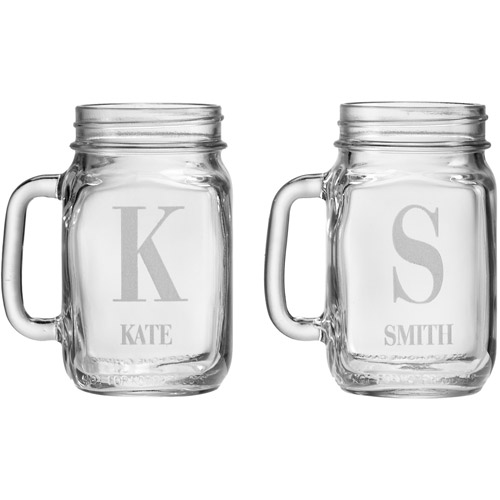 Personalized Mason Drinking Jar