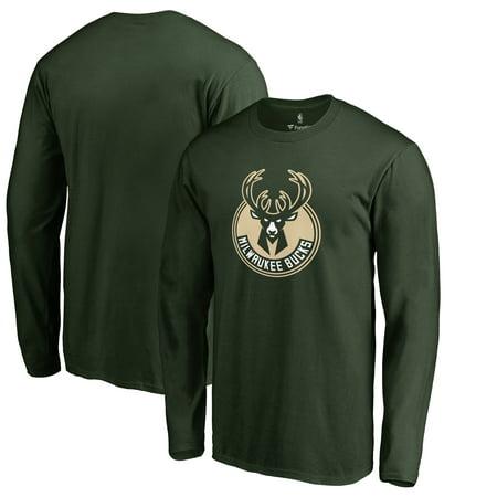 Milwaukee Bucks Primary Logo Long Sleeve T-Shirt - Hunter Green