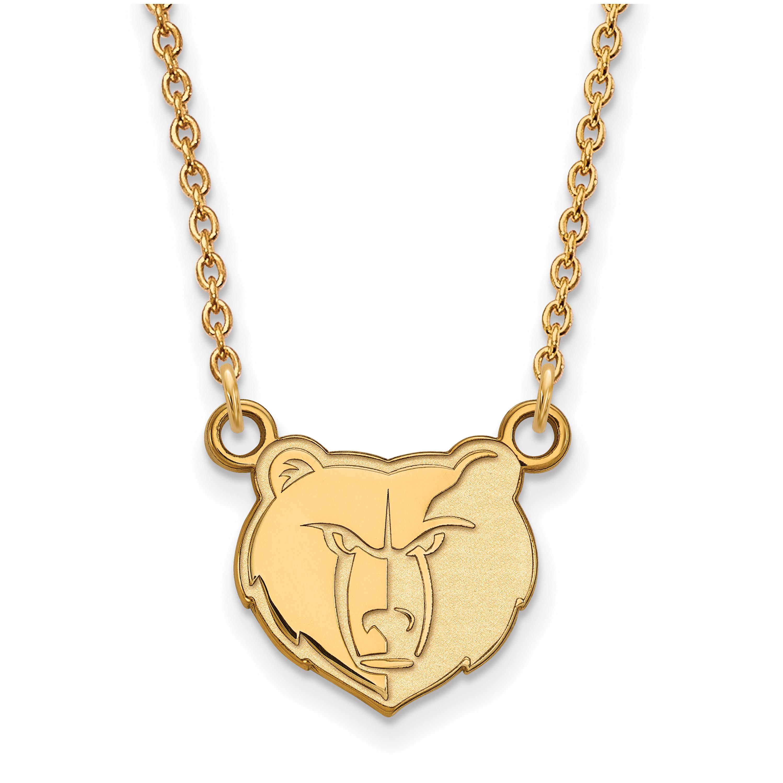 Memphis Grizzlies Women's Gold Plated Pendant Necklace - No Size