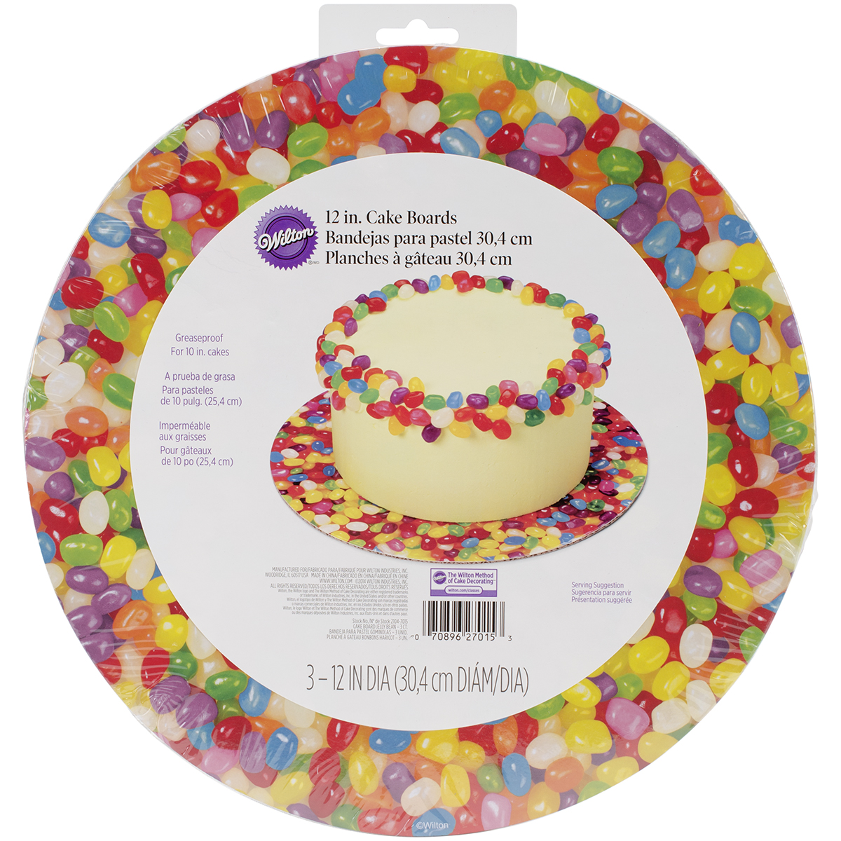 "Photo Real Jelly Beans Cake Board, 12"", 3pk"